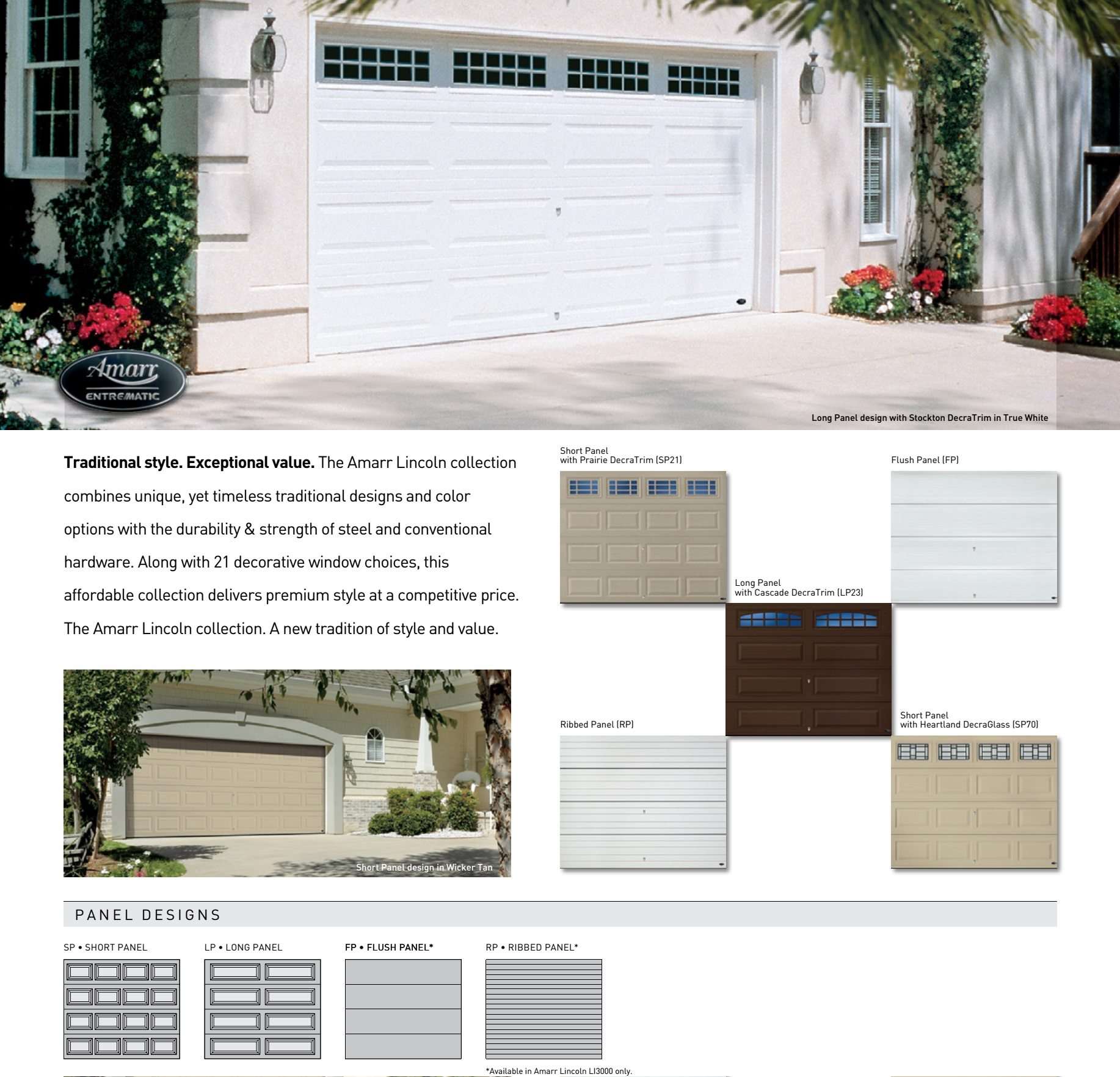 Lincoln Garage Door Collection